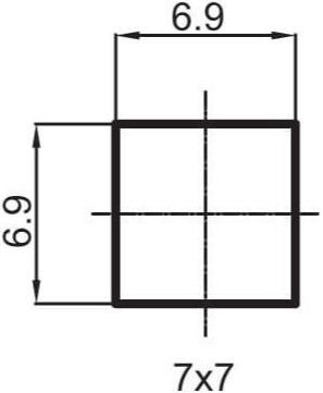 RUBINETA 3/8 7x7 Valve