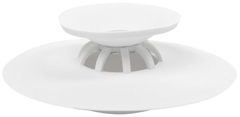 Umbra Flex Drain Stop & Hair Catcher White