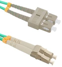 Qoltec Fiber Optic Cable Multimode LC/UPC to SC/UPC 50/125 OM4 1m