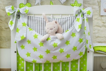 Babylove Cotton Pocket For Cot White/Green