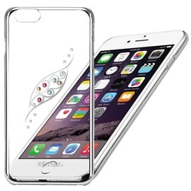 X-Fitted Graceful Leaf Swarovski Crystals Back Case For Apple iPhone 6/6s Silver