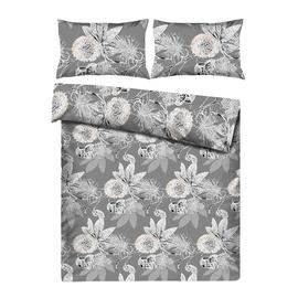 Комплект постельного белья Domoletti HAR/7118 White/Gray, 200x220 cm/50x70 cm