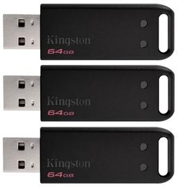 Kingston DataTraveler 64GB DT20 USB 2.0 Pack Of 3