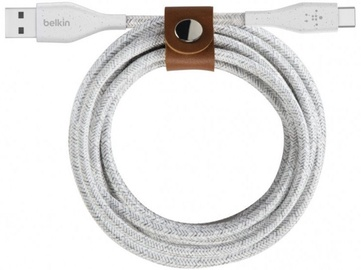 Belkin DuraTek Plus USB-C To USB-A Cable w/Strap 1m White