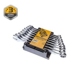 Kombinēto uzgriežņu atslēgu komplekts 10-18mm 9 gab (Forte tools)