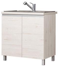 Bodzio Monia Lower Cabinet For Sink 80 Pearl Soma Oak