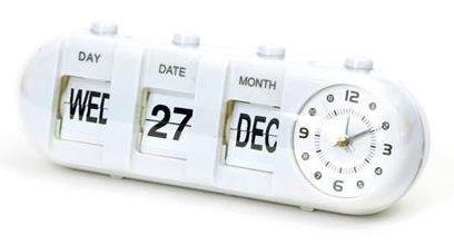 Platinet January Alarm Clock White