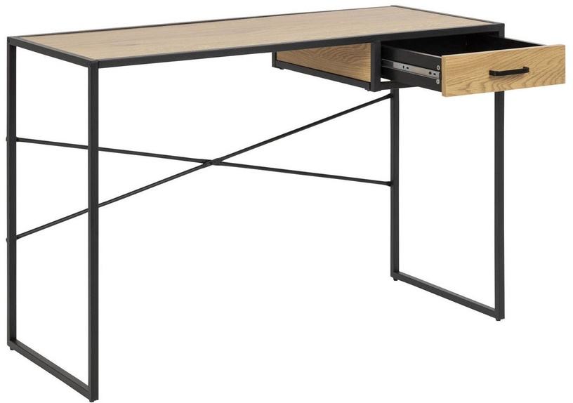 Home4you Seaford Desk With Drawer Oak
