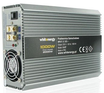 Whitenergy Power Inverter 12V DC To 230V AC 1000W