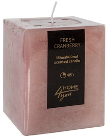 Home4you Candle Fresh Canberry 7.5x7.5xH10cm