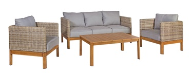 Home4you Captain Garden Furniture Set Teak/Grey