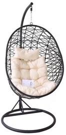 Кресло-качалка подвесное, черное