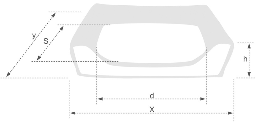 Лежанка Amiplay Basic Sofa M 68x56x18cm Graphite