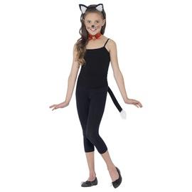 Katės karnavilinis kostiumas ausys ir uodega