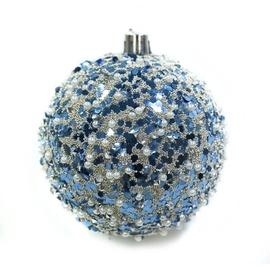 Ziemassvētku eglītes rotaļlieta Christmas Touch SY19STB-083 Blue, 80 mm, 3 gab.