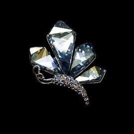 Diamond Sky Brooch Crystal Moth IV With Swarovski Crystals