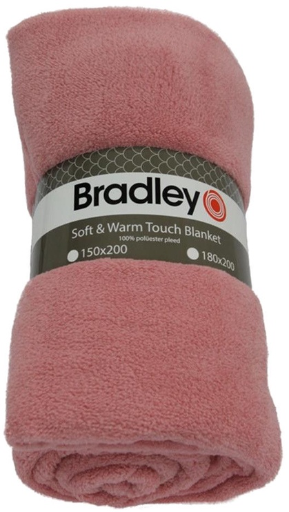 Bradley Plaid Fleece 180x200cm Rose