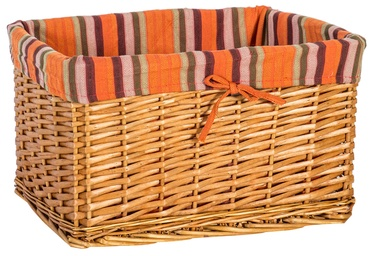 Home4you Basket Max 2 40x26xH24cm Brown/Orange