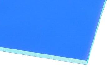 Ohne Hersteller Acrylic Glass GS Transparent Blue 500x500mm