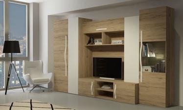 Dzīvojamās istabas mēbeļu komplekts WIPMEB Melbourne San Remo Oak/White Gloss