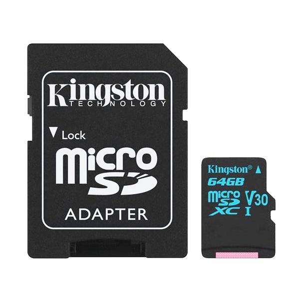 Kingston Canvas Go! MicroSD 64GB + SD Adapter