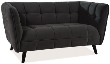 Signal Meble Castello 2 Velvet Sofa Black