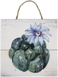 Home4you Wooden Printed Picture Country 15x15cm Cactus 1 83773