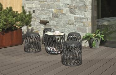 Sodo baldų komplektas Prosperplast Uniqubo Multifunctional IKUBS5-S433, pilkas, 4 vietų
