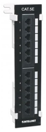 Intellinet Patch Panel UTP CAT 5e RJ45 x 12 Black