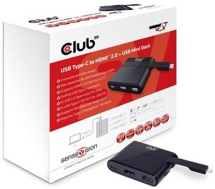 Club 3D USB Type-C To HDMI 2.0/USB 2.0/USB Type-C Charging Mini Dock