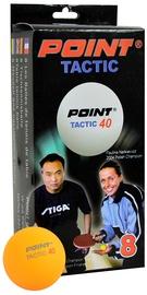 Tactic Ping Pong Balls Orange 8pcs