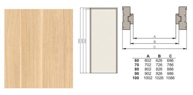 Ukseleng Classen horisontaalne tamm 844x90 cm