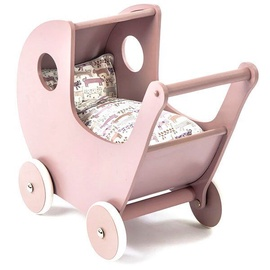 SmallStuff Wooden Doll Stroller Powder Pink