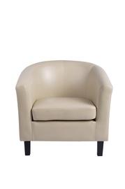 Fotelis HY-9030, dirbtinės odos, kreminės spalvos