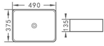 Praustuvas ACB8025, 48 x 37,5 x 13,5 cm