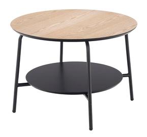 Kavos staliukas Halmar Genua Law3, rudas/juodas, 600x600x430 mm