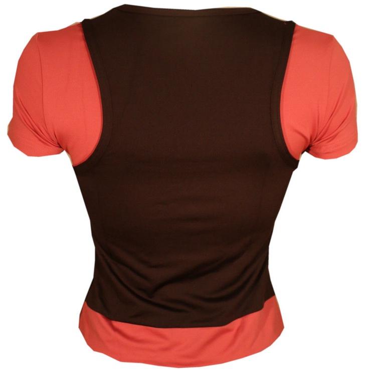 Bars Womens T-Shirt Brown/Pink 101 M