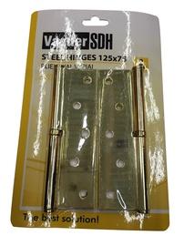 Uksehing Vagner SDH, 125 x 75 x 2,5 mm, messing, vasak