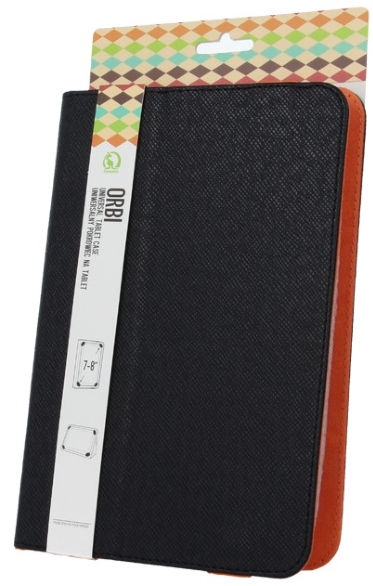 "GreenGo Universal Book Case With Stand 7-8"" Black/Orange"