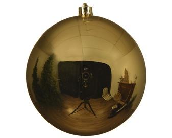 Kalėdinis burbulas, auksinis, 14 cm