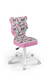 Детский стул Entelo Petit ST31, белый/розовый, 370x350x830 мм