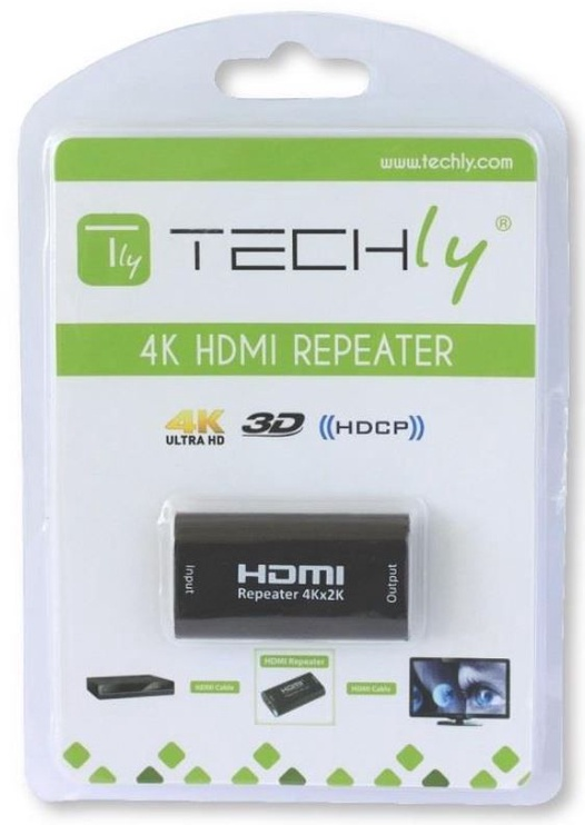 Techly Adapter Signal Repeater HDMI / HDMI Black