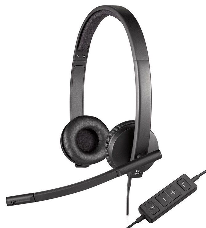 Ausinės Logitech H570e Black