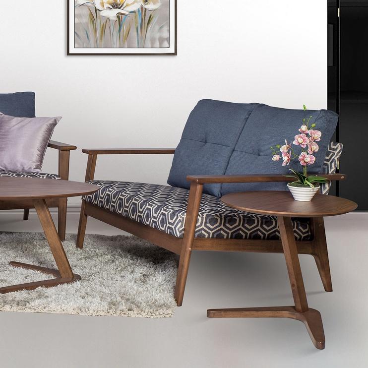 Kafijas galdiņš Home4you Lana, brūna, 500x500x500 mm