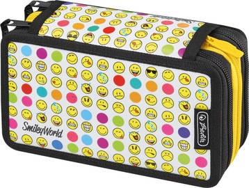 Herlitz Triple Case 31 Pieces Smileyworld Rainbow Faces