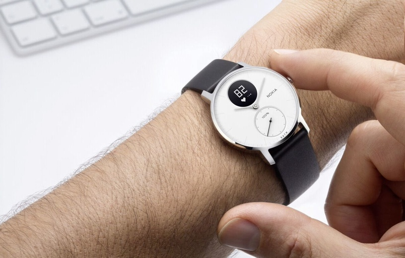 Išmanusis laikrodis Nokia Steel HR 36mm White Black