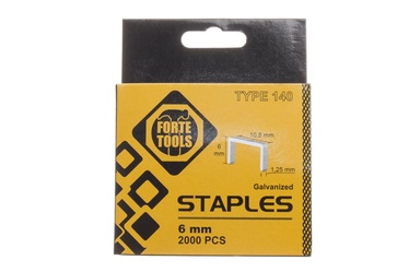 Kabės Forte Tools, 140, 6 mm, 2000 vnt