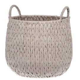 4Living Round Fabric Basket 28x25cm Grey