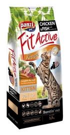 Sausas ėdalas katėms Fit Active Kitten, su vištiena ir žuvimi, 1.5 kg