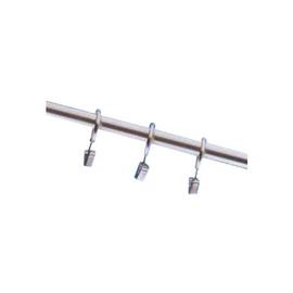 Aizkaru stangas riņķis ar gredzenu D16/19, matēta sudraba